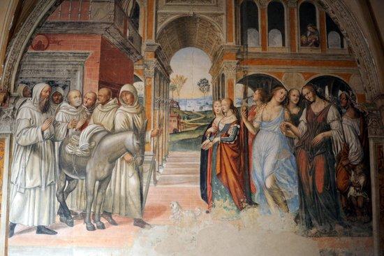 Abbazia di Monte Oliveto Maggiore: storia  di San benedetto