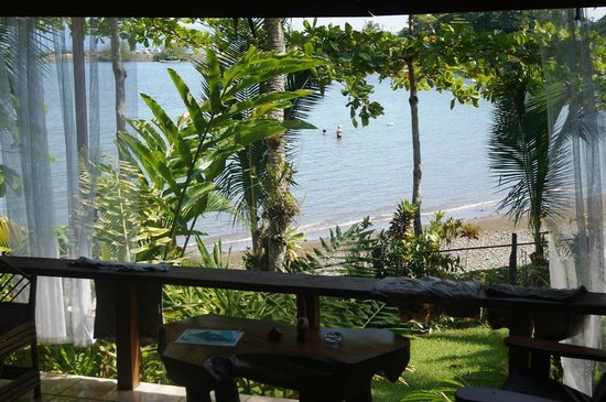 Cabinas Jimenez : View from the porch of Waterfront Cabina