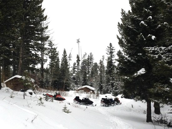 The Resort at Paws Up: Snowmobile tour, definitely worth the money