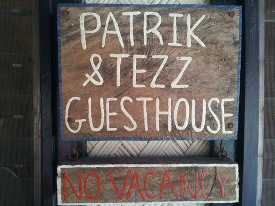 Patrik & Tezz Guesthouse: this is the sign