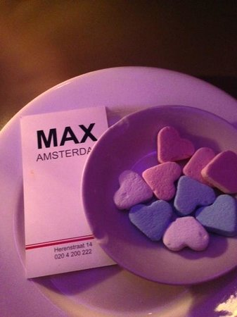 MAX Amsterdam: Cute candies at the table