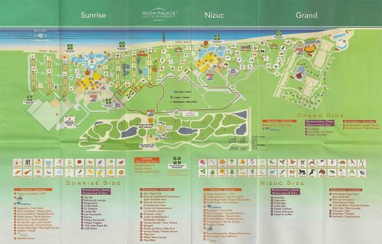 Map of the Moon Palace Resort - Picture of Moon Palace Cancun ...