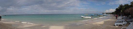 Paradise Beach Hotel : Beach area