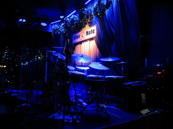Blue Note Jazz Club: Stage from our table