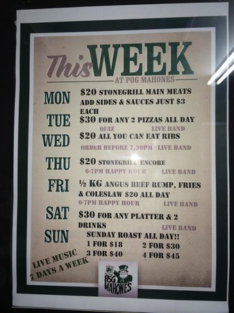 Typical Daily Deals-Worth trying - Picture of Pog Mahones Irish Pub