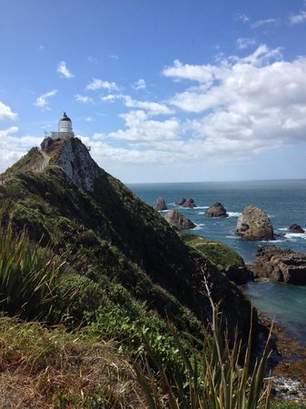 Nugget Point: Subida al faro.