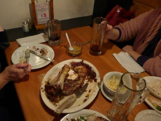 Andreas Keller Restaurant: done with the Schweinshaxe