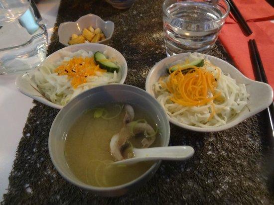 Yumiko: salad and soup