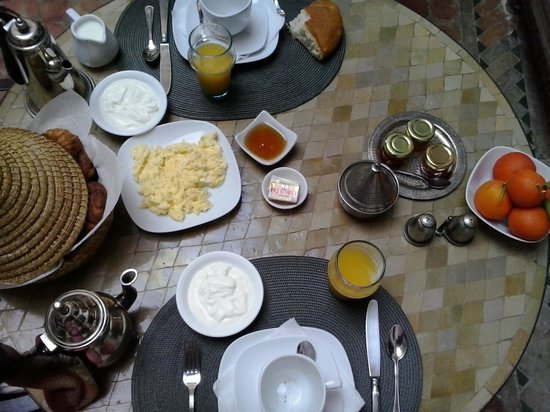 Riad Altair: Great breakfast