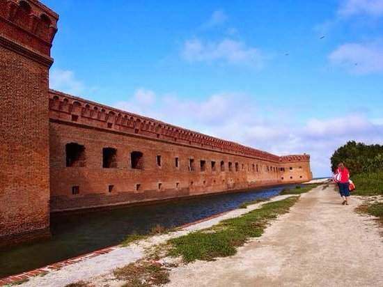 Dry Tortugas National Park: walk along this side of Ft. Jeff to walk over to Bush Key or to the North Beach