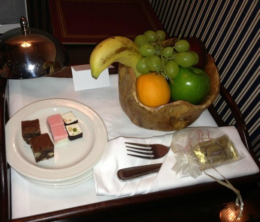 The Rubens at the Palace: Sweets and treats left every night