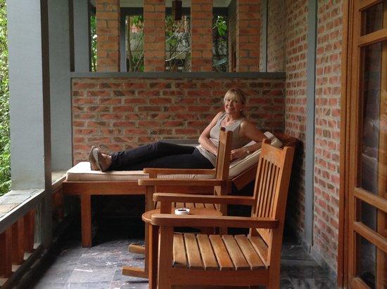 Pilgrimage Village: Our room's patio