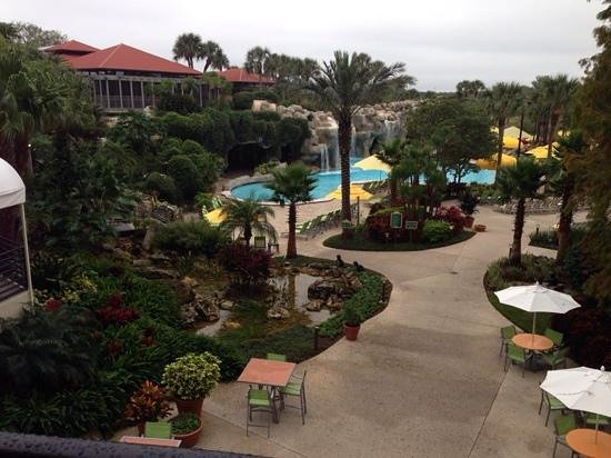 Hyatt Regency Grand Cypress: peek of the pool area