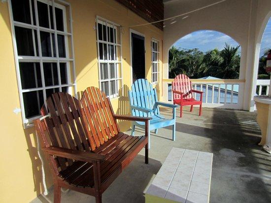 Jaguar Morning Star Guesthouse : The terrace