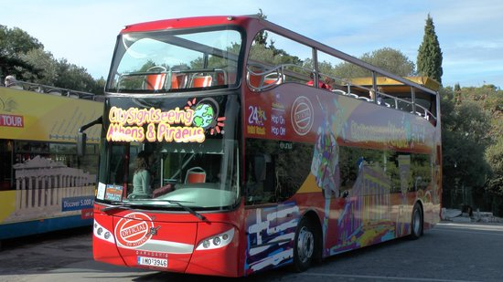 City Sightseeing Athens & Piraeus: Open Top Tour Bus