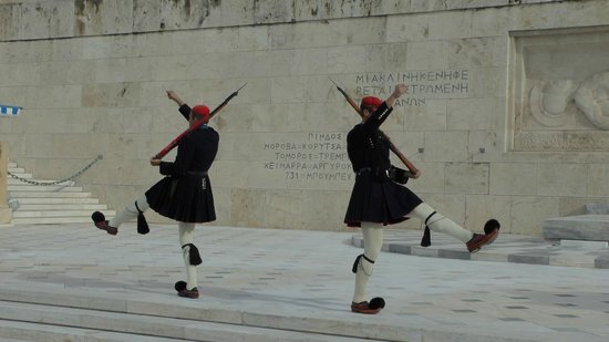 City Sightseeing Athens & Piraeus: The quirky changing of the guard - Parliament Building, Athens