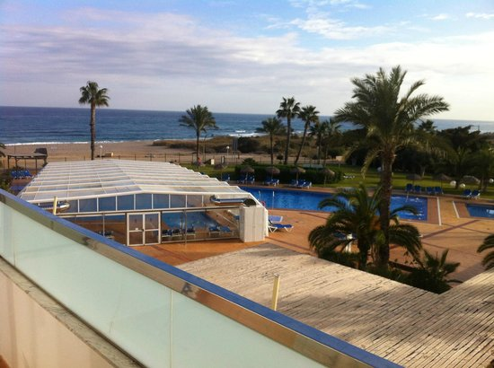 Servigroup Marina Playa : terraza y vistas