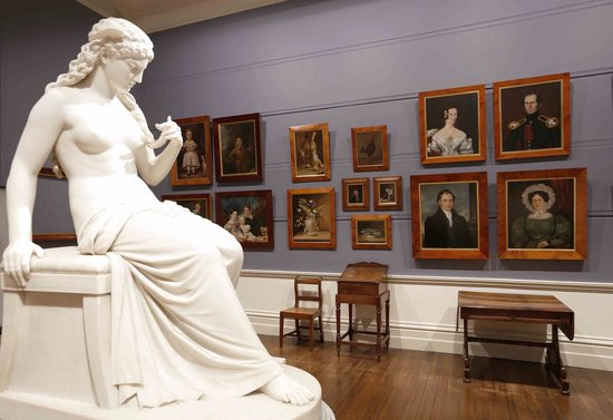 Tasmanian Museum and Art Gallery: The Dispossessions and Possesions gallery, featuring TMAG's Colonial Art collection
