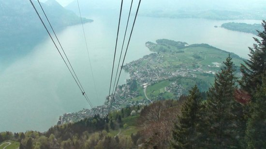 Mt. Rigi: Riding the gondola down to Weggis