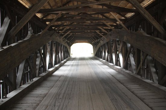 Hemlock Covered Bridge - Inside