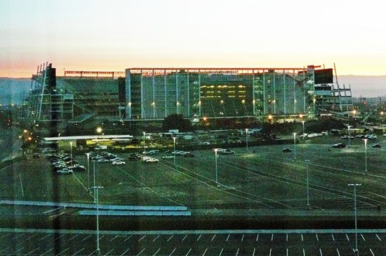 Hilton Santa Clara: The new 49er Stadium photographed from my room