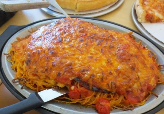 Goodies Restaurant: Baked eggplant parm with chicken
