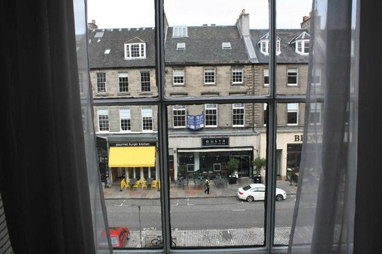 The Roxburghe Hotel, Edinburgh: view from the room of george st