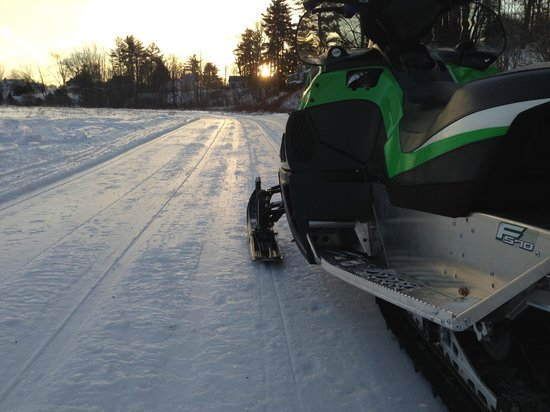 Northeast Snowmobile and ATV Rentals: morning ride