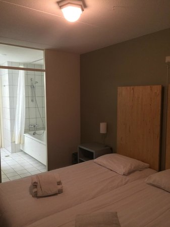 Resort Bad Boekelo: アパートメント(メインベッドルームからバスルームを臨む)