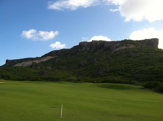 Old Quarry Golf Course: Quarry in the background