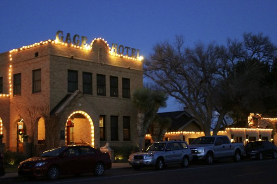 Gage Hotel: Hotel at night
