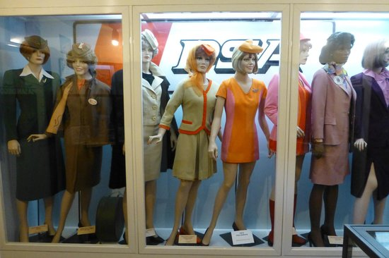 San Diego Air & Space Museum: PSA Flight Attendant Uniforms