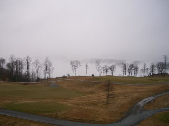Primland : View from our room ( that's fog not snow)