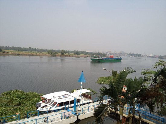 Riverside Serviced Apartments: View from river view 2-bedroom apartment