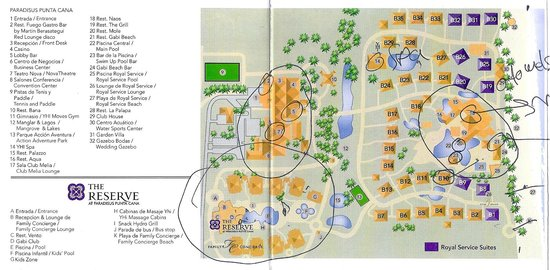 Paradisus Punta Cana Resort: Here's a map of the property.