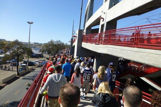 Qualcomm Stadium: Trolley line exit