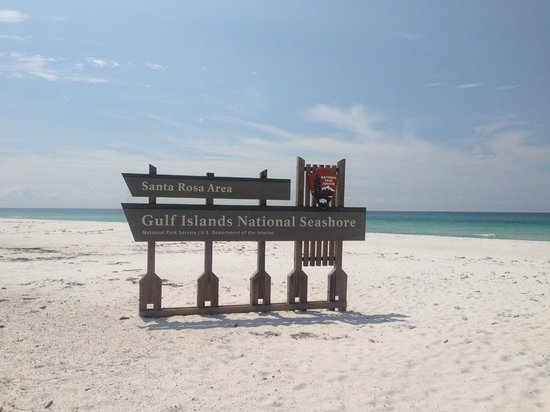Gulf Islands National Seashore - Florida District: View of the beach