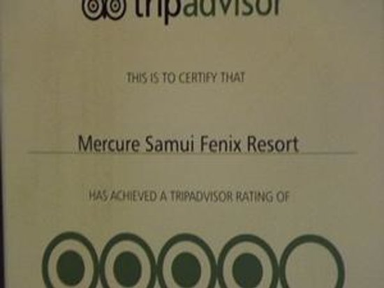 Mercure Koh Samui Beach Resort: Wrong name to achieve fake rating by travel agency!
