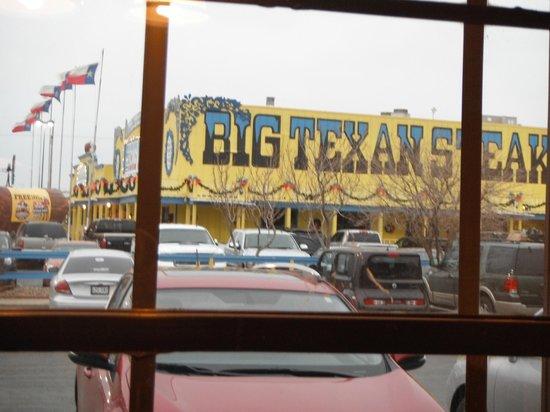 Big Texan Motel: Vue de notre chambre