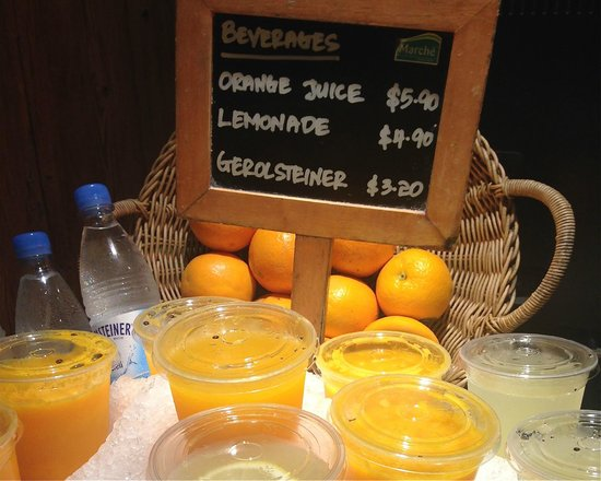 Marche Restaurant : Fresh orange juice - Pricy! You could buy a bag of 6 oranges with this price.