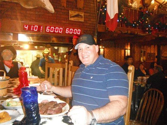 Big Texan Motel: Participant bifteck 72 onces (échec)