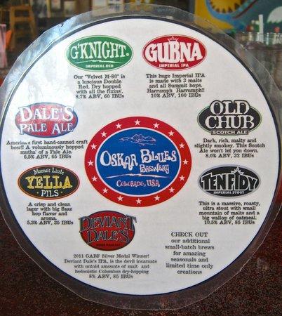 Oskar Blues Grill & Brew : In house beers