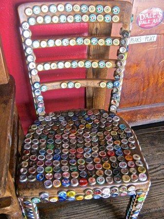 Oskar Blues Grill & Brew : Bottle top chair