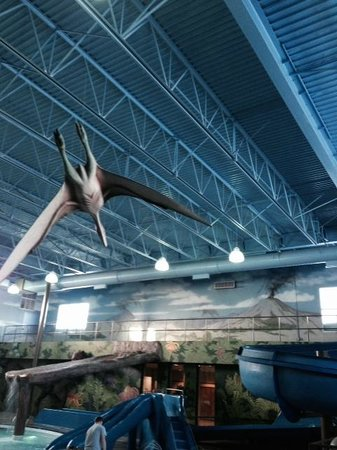 Flying Dinosaur, Dino Park pool area, Victoria Inn  |  1808 Wellington Ave, Winnipeg, Manitoba