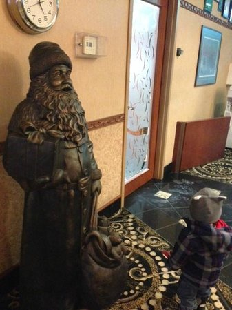 Santa Claus waiting at reception, Victoria Inn  |  1808 Wellington Ave, Winnipeg, Manitoba