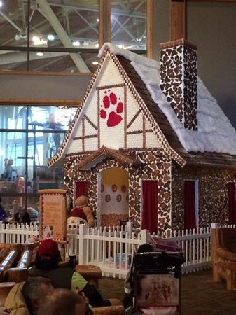 Great Wolf Lodge: Real gingerbread house!