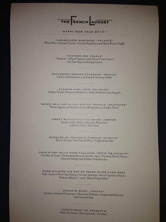 The French Laundry : Tasting Menu