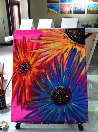 Create, Mix and Mingle: My finished painting of Gerber Daisies
