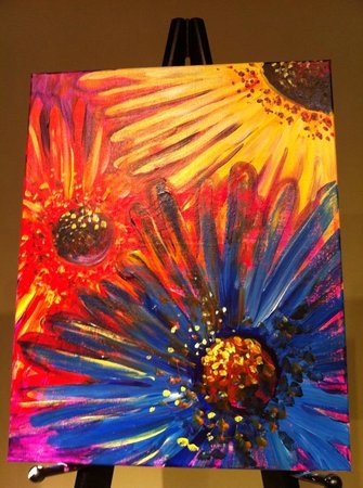 Create, Mix and Mingle: The instructor's finished painting