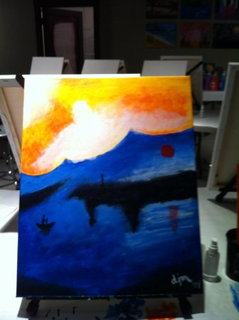 Create, Mix and Mingle: My second painting Monet's Sunrise